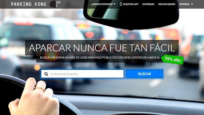 Parking Kong: reserva aparcamiento en la ciudad y págalo desde la app
