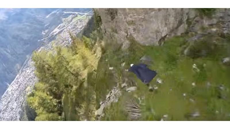 Impresionante vídeo estabilizado de salto con traje aéreo