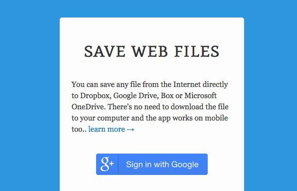 Con Save puedes guardar cualquier fichero directamente en Dropbox, Drive y más