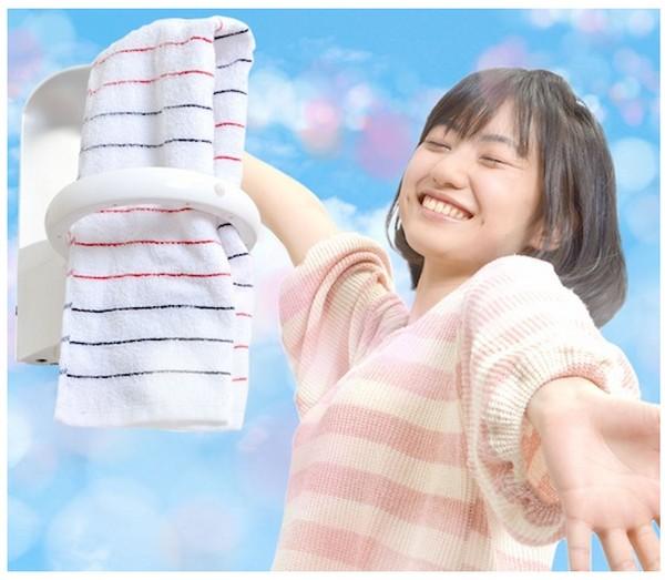 Colgador y secador UV para eliminar los gérmenes de tus toallas