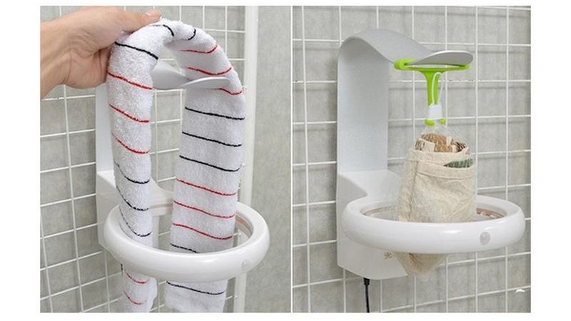 Colgador y secador UV para eliminar los gérmenes de tus toallas ...