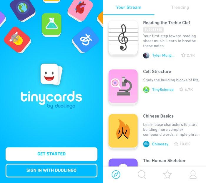 Duolingo TinyCards, una app para aprender lo que quieras
