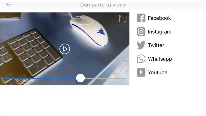 Videona: graba vídeos y añádeles efectos en tiempo real