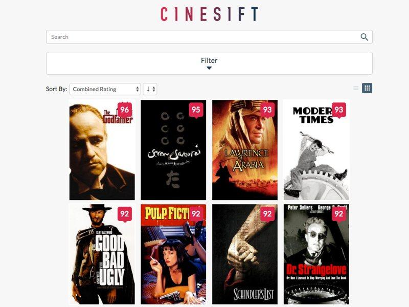 Cinesift te ayuda a elegir la película perfecta