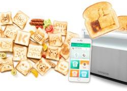Esta tostadora «imprime» lo que quieras en tus tostadas