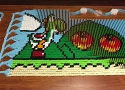 Impresionante montaje de dominó de Super Mario World