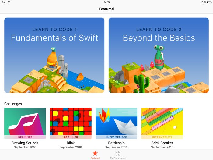 Aprende a programar apps de iPhone con Swift Playgrounds