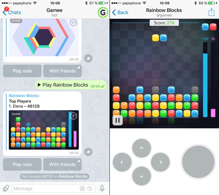 Juega a juegos en tu móvil... con Telegram