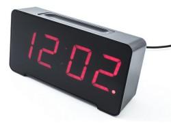 Reloj despertador con 4 conexiones USB