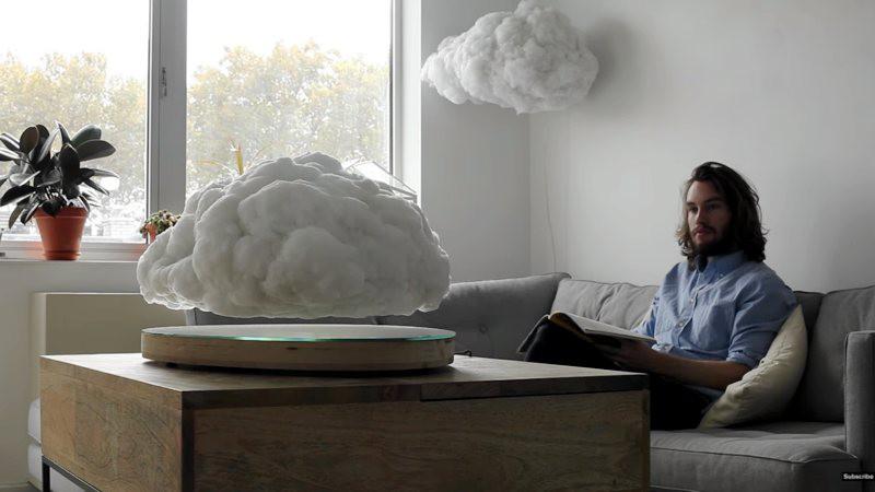 Altavoz bluetooth en forma de nube que levita
