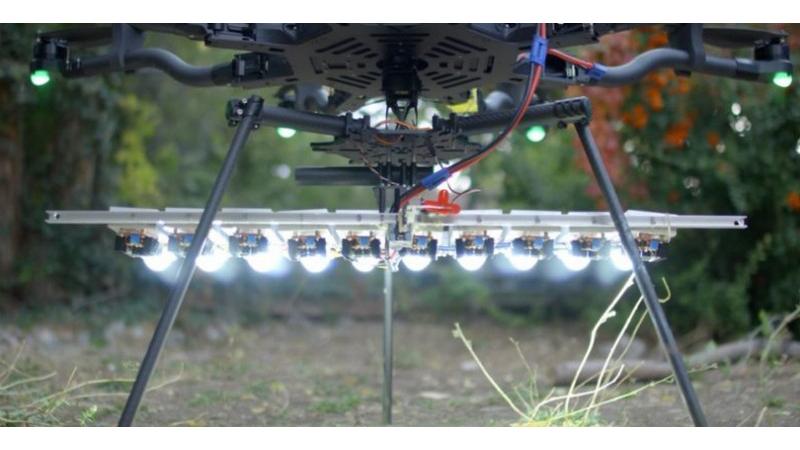 Fantásticas imágenes tomadas con un dron y la luz led más potente