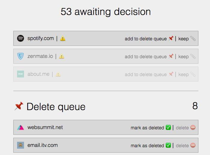 Deseat, la web que te ayuda a eliminar cuentas que ya no usas
