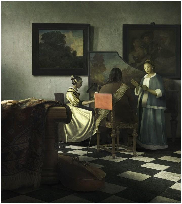 Fotógrafo recrea un cuadro de 1664 usando sólo Photoshop e imágenes de Adobe Stock