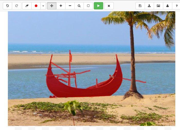 Cómo borrar objetos de una foto online con WebInpaint
