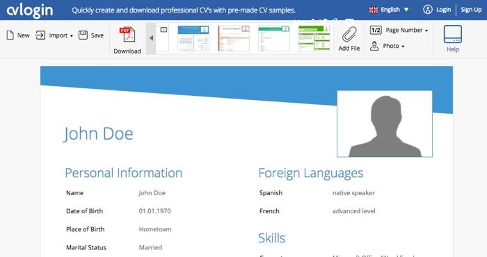 Crea tu currículum online fácilmente con CVLogin