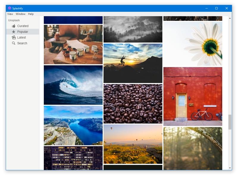 Fondos de pantalla para Windows con Splashify