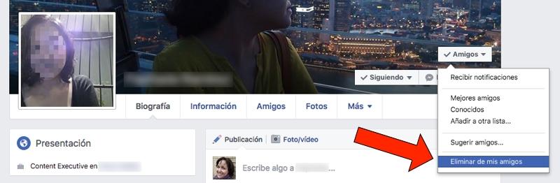 Cómo bloquear a alguien en Facebook