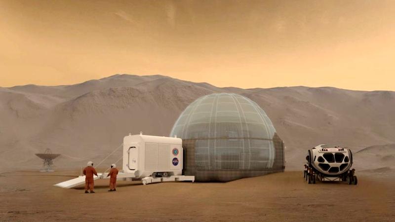 Mars Ice Dome: así podríamos vivir en Marte