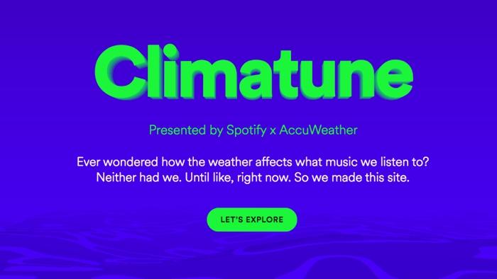 Climatune: genera listas de Spotify según el tiempo que haga