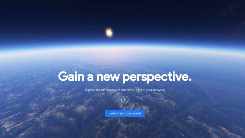 El nuevo Google Earth funciona en tu navegador Chrome