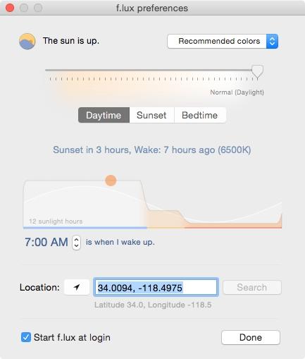 F.Lux: un filtro de luz azul para la pantalla de tu ordenador