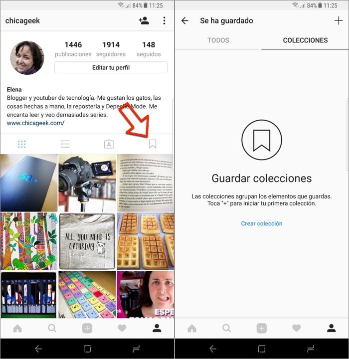 Cómo crear colecciones de fotos en Instagram