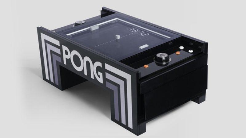 Mesa de PONG para amantes de los videojuegos retro
