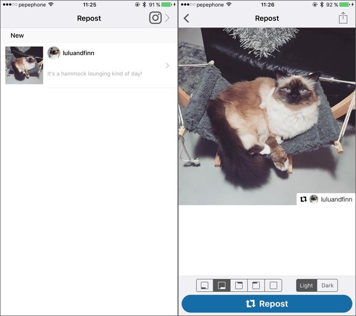 Cómo repostear una foto en Instagram