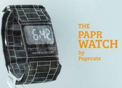 Paprcuts Watch, un reloj de pulsera… de papel
