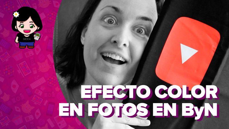 Vídeo: cómo aplicar un efecto de color selectivo a una foto en blanco y negro