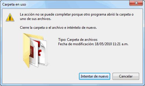 Cómo renombrar, mover o borrar un archivo bloqueado