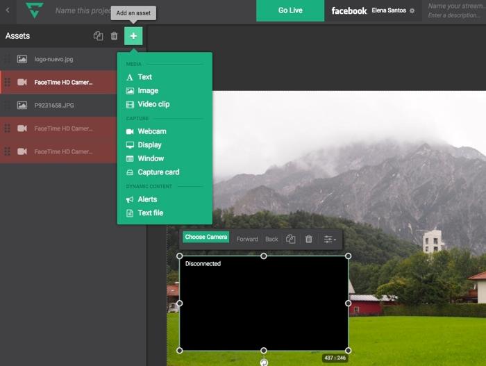 Lightstream, para transmitir vídeo en directo desde tu navegador