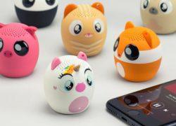 Colección de mini-altavoces bluetooth para móvil, ¡adorables!