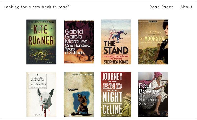 Recomendaciones de libros basadas en su primera página