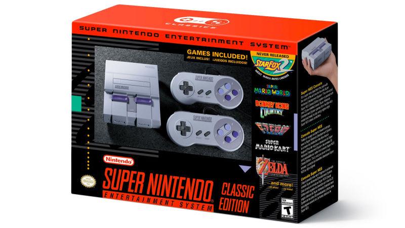 Nintendo anuncia la versión mini de la SNES