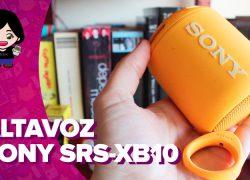Vídeo: análisis del altavoz bluetooth Sony SRS-XB10