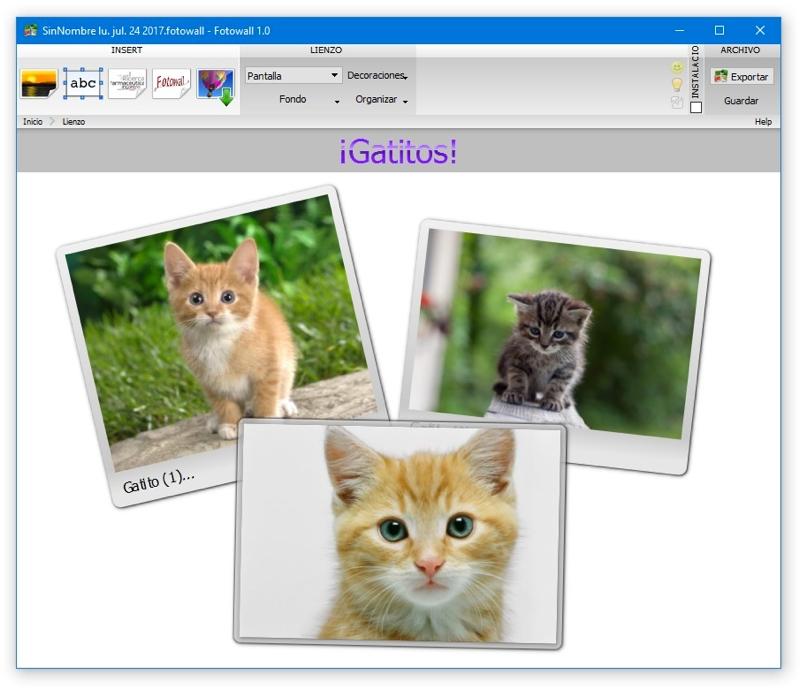 Crea fondos de pantalla con FotoWall