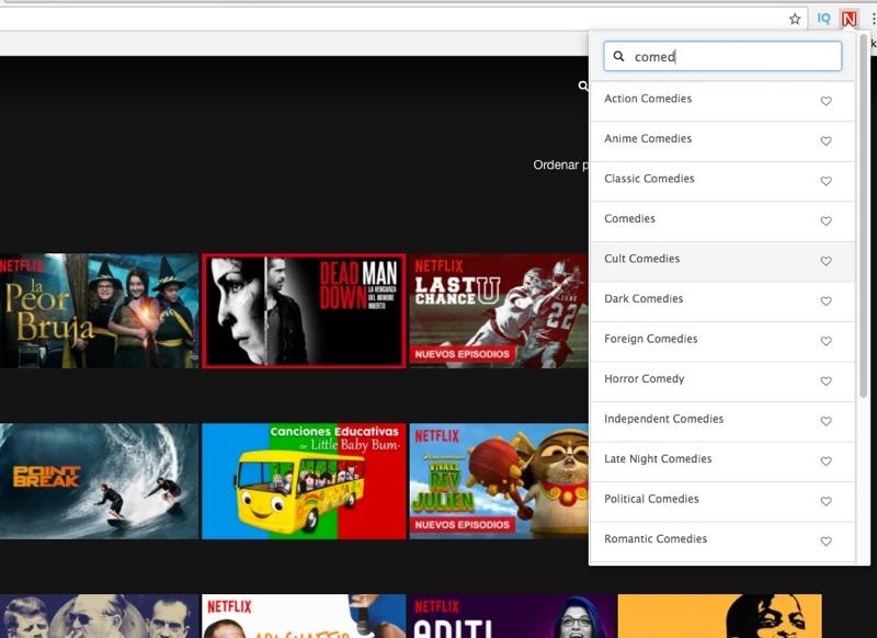 Cómo acceder a las categorías ocultas de Netflix