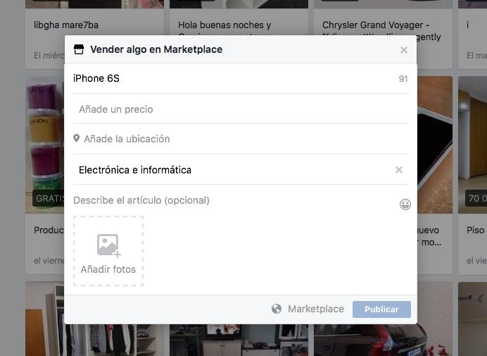 Facebook Marketplace, para comprar y vender cosas en Facebook