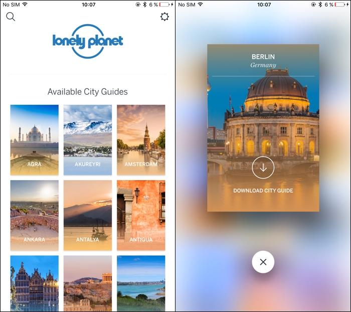 Disfruta más de tus viajes con las apps de Lonely Planet