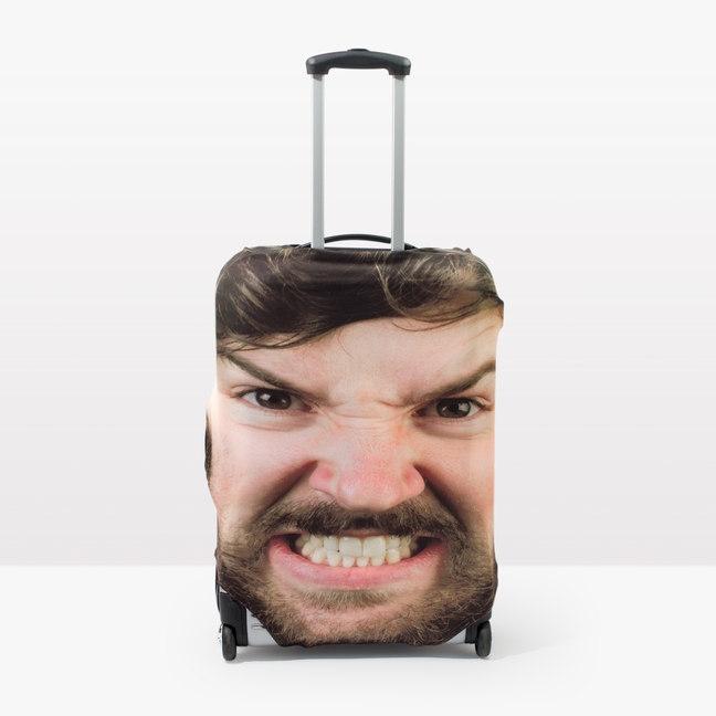 Una funda para la maleta...¡con tu cara!