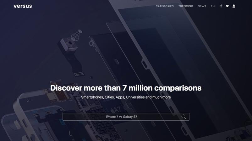 Compara todo tipo de productos online con Versus