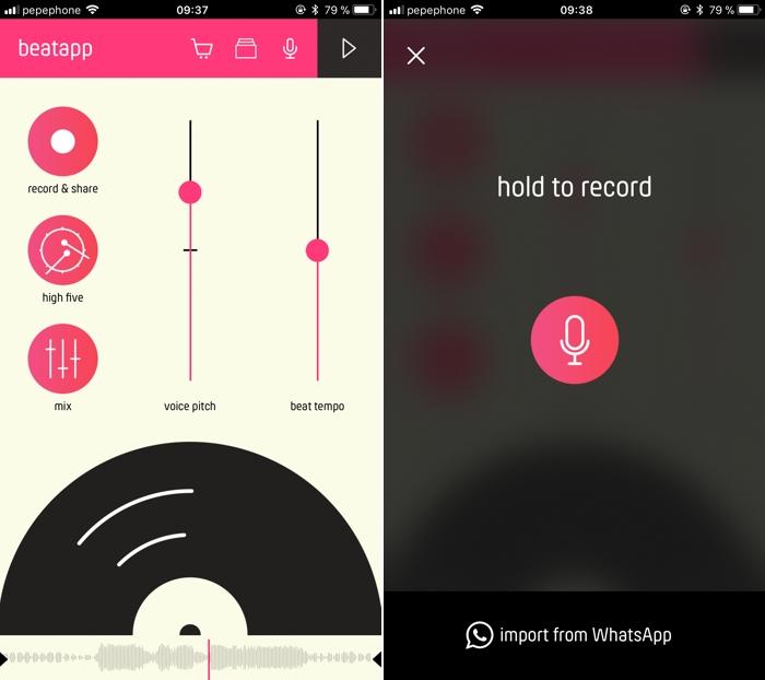 BeatApp: añade efectos a tus notas de voz en WhatsApp
