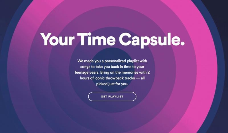 Spotify te lleva de vuelta a la música de tu adolescencia