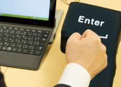 Una tecla gigante de «Enter» para aliviar tu estrés