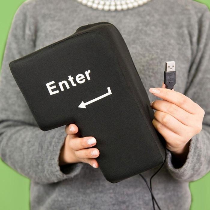 """Una tecla gigante de """"Enter"""" para aliviar tu estrés"""