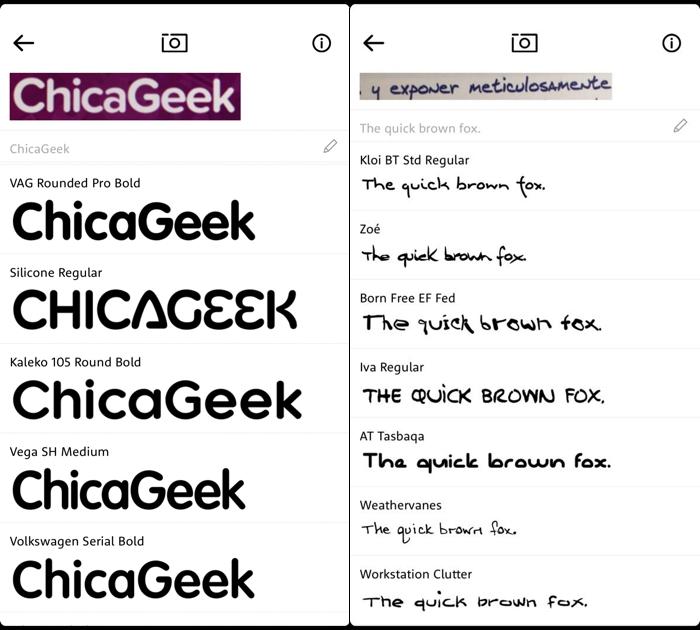 Identifica fuentes de texto con tu móvil y la app WhatTheFont