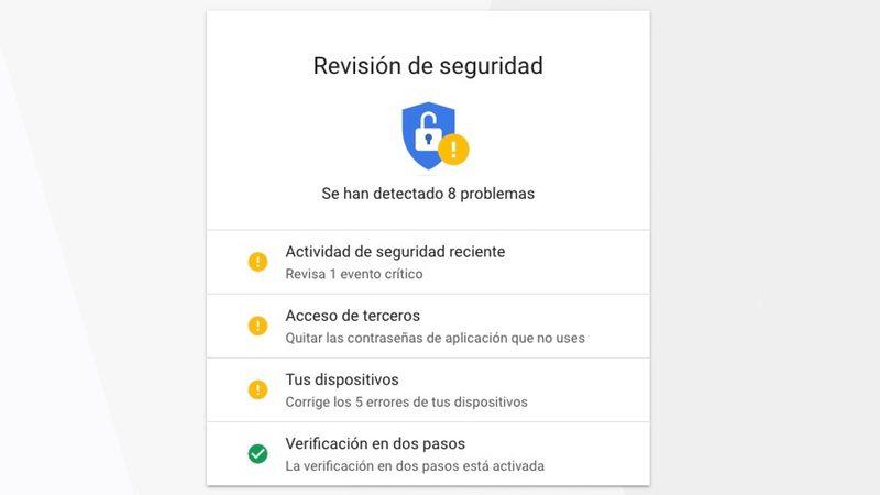 Cómo hacer una revisión de seguridad en tu cuenta de Google