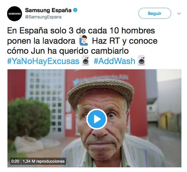 Con Samsung ya no hay excusas... ¡para poner la lavadora!