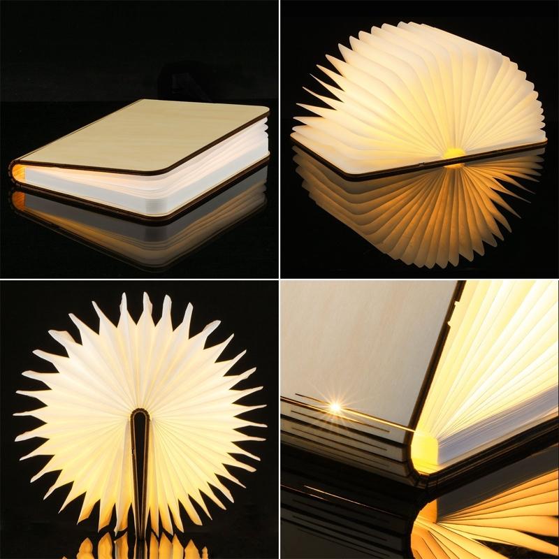 Una preciosa lámpara en forma de libro